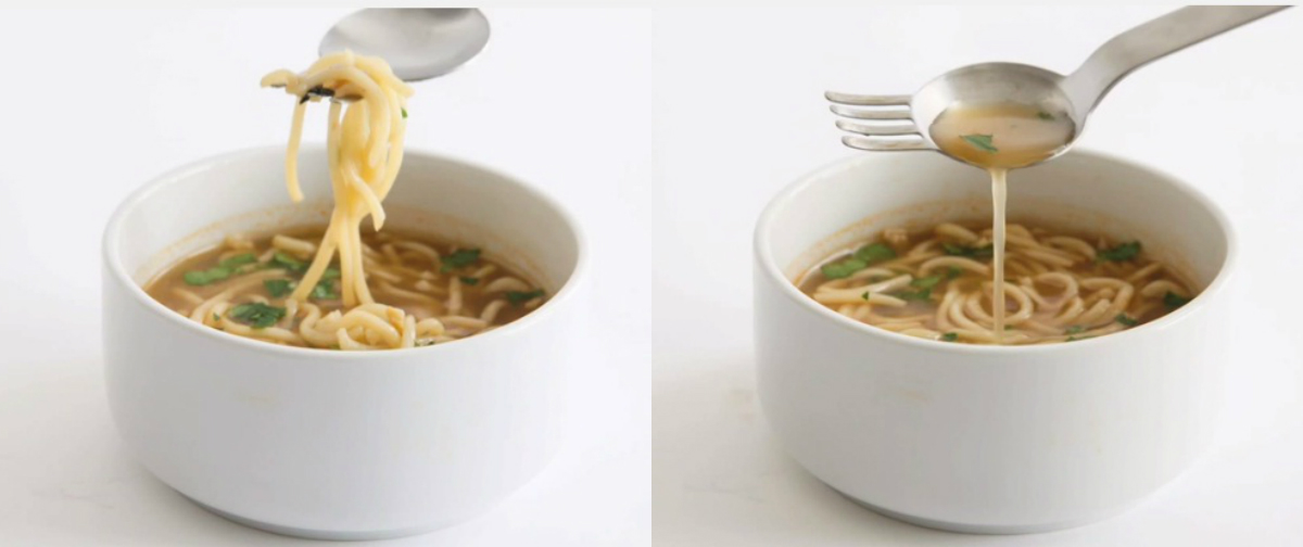 allinone spoon and fork used in eating ramen