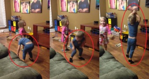 These Adorable Twins Are Having A Living Room Dance Party. But This Little Boy Is Such A Spotlight Stealer! LOL!
