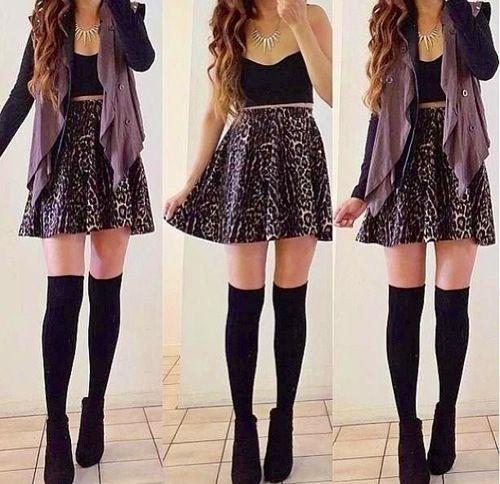 High Waisted Skirts Outfits Tumblr - klejonka