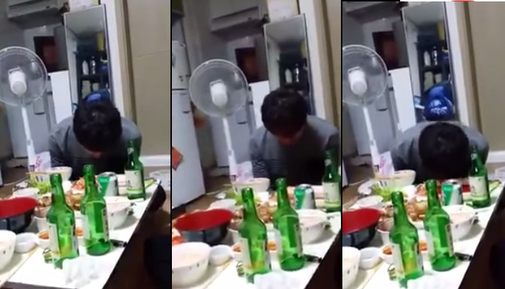 This Sleepy Korean Guy Messes Up With Kimchi
