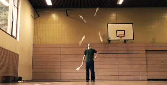 Wait For 03:50 And You'll Understand Why This Guy's Known As The Juggling Master