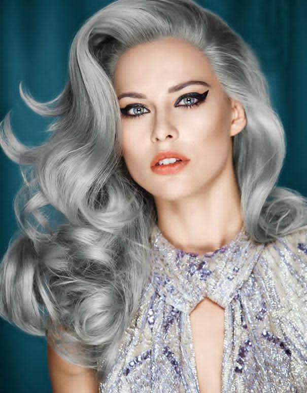 granny hair trend young women dye their hair gray