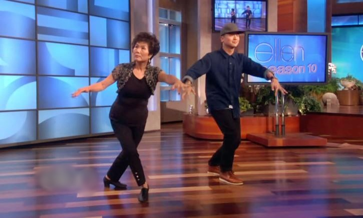 """Mother And Son Makes It To """"Ellen"""", Makes Some Pretty Sweet Dance Moves – Mom Still Got The Moves…"""