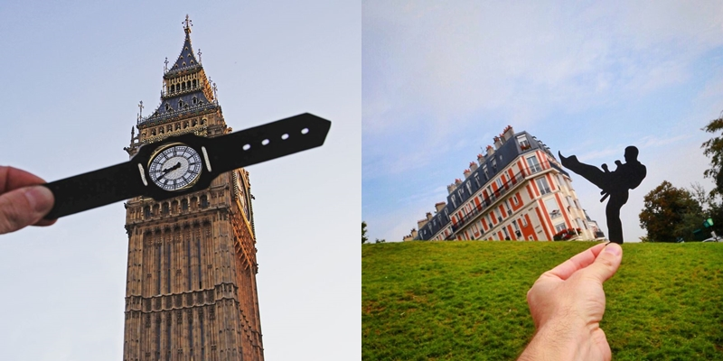 This Guy Used Paper Cutouts To Transform Famous Landmarks In A Hilarious Way…