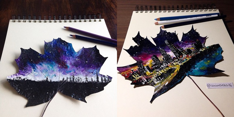 Artist Draws Fascinating Landscape In Autumn Leaves – You'll Surely Be Impressed As I Am…