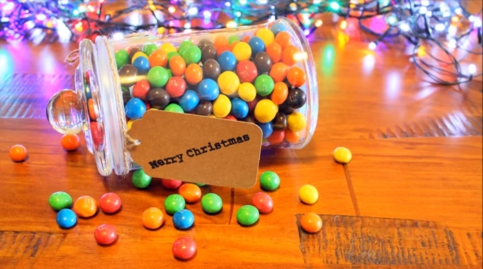 Learn How To Make This Candy Jar That Keeps A Secret At The Center – Perfect For Christmas Presents