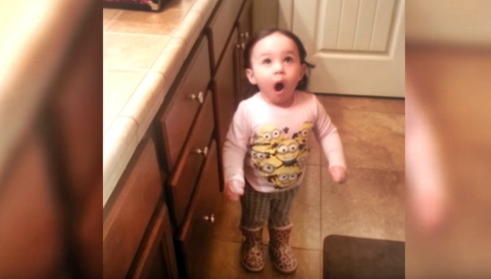 Baby Girl Seems To Love The Blow Dryer – So Cute To Watch