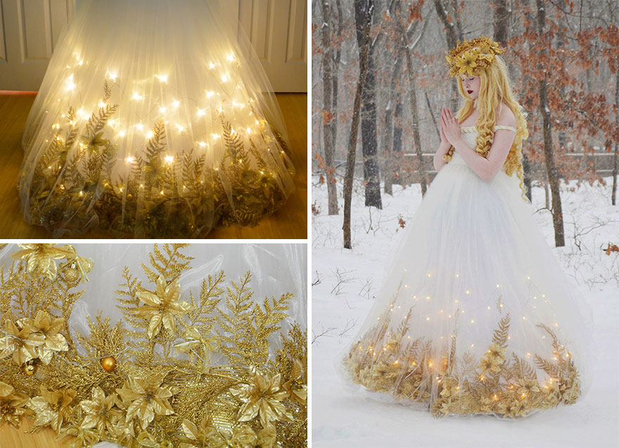 18-Year-Old Girl Creates Incredible Dresses Just Like The Disney Princesses – Lovely