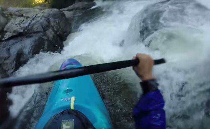 Kayaker Paddles Through The Extreme Rapids…Belly Up For This Exhilarating Ride.