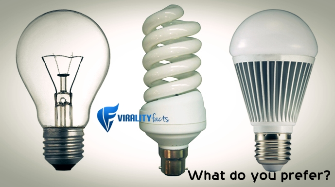 Know The Difference Between Incandescent, CFL, and LED Bulbs