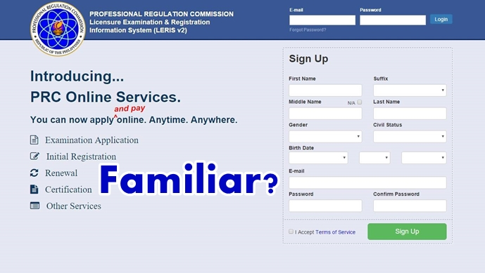 PH Professional Regulation Commission Website Copies Facebook Login Page Design – Have A Look