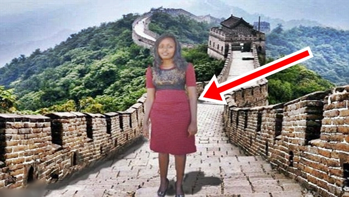 Kenyan Woman Photoshopped Badly In Chinese Vacation Destinations Becomes And An Internet Star, Also Gets An All-Expense-Paid Dream Vacation There – See The Story