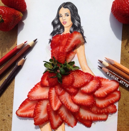 How This Artist Turn Food Into Fashionable Dresses Will Make Your Mouth Water