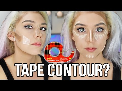 """This Girl Will Teach You How To Contour Your Makeup With """"SCOTCH TAPE"""""""