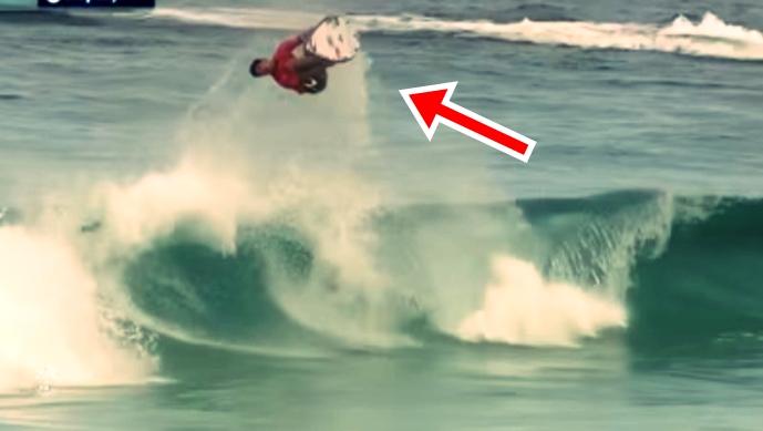 Guys Scores A Perfect 10 Flip Surf – Unbelievable