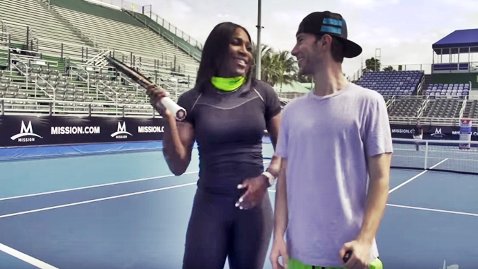 Incredible Tennis Trick Shots By Serena Williams – Amazing