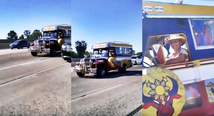Philippine Jeepney Rides On California Freeway – Must See