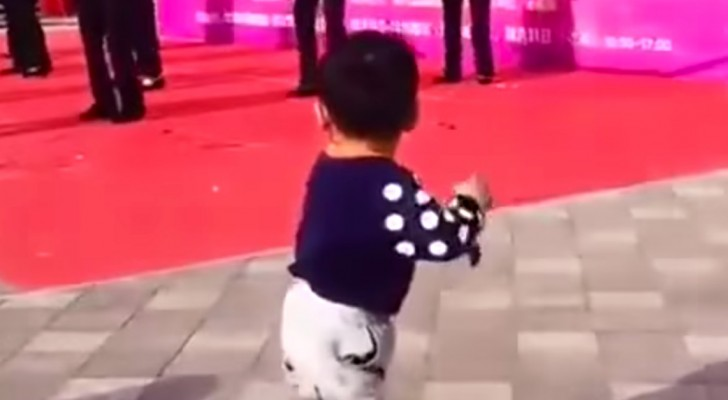 This Little Child Is Just Watching A Dance Group Performing — Not Until…