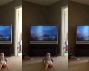 Baby Hilariously Imitates Rocky Balboa's Iconic Workout