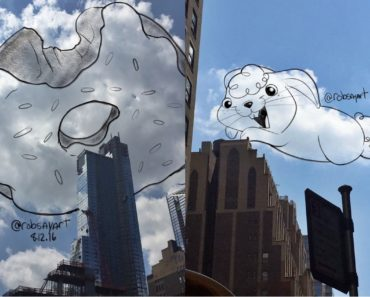 Guy Used Clouds To Practice His Illustrations And Character Designs