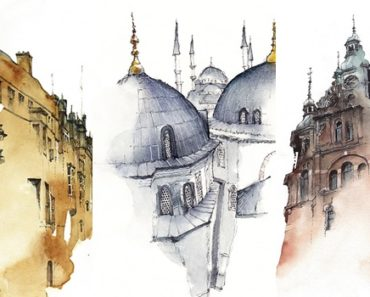 15 Watercolor Paintings Of The Cities Traveled By A Bangkok-Based Graphic Artist